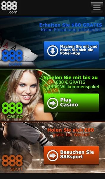 888.com Mobile Casino Bildschirmfoto
