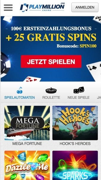 Play Million Mobile Casino Bildschirmfoto